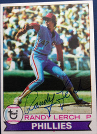 Randy Lerch Autographed 1979 Topps Burger King #8