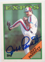 Jeff Parrett Autographed 1988 Topps Tiffany #588
