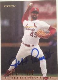 SOLD 4682 Jeff Parrett Autographed 1997 Fleer Update #U193