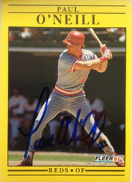 SOLD 4691 Paul O'Neill Autographed 1991 Fleer #76