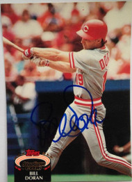 Bill Doran Autographed 1992 Stadium Club #38