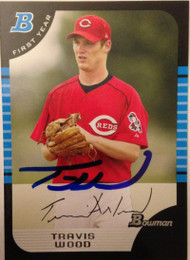 Travis Wood Autographed 2005 Bowman Draft Picks & Prospects #BDP64