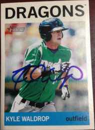 Kyle Waldrop Autographed 2013 Topps Heritage Minor League #103