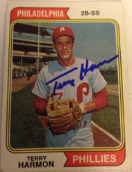 Terry Harmon Autographed 1974 Topps #642