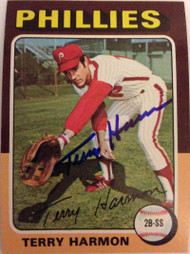 Terry Harmon Autographed 1975 Topps #399