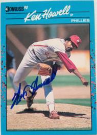 SOLD 4089 Ken Howell Autographed 1990 Donruss Baseball's Best #44