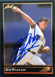 Bob Walk Autographed 1992 Leaf Black Gold #353
