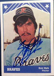 Bob Walk Autographed 1983 Richmond Braves TCMA #10