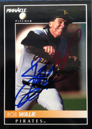 Bob Walk Autographed 1992 Pinnacle #410