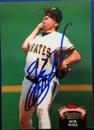 Bob Walk Autographed 1992 Stadium Club #746