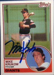 Mike Krukow Autographed 1983 Topps Traded #58T