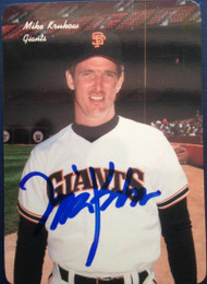 Mike Krukow Autographed 1986 Mother's Cookies #11