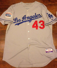 Ken Howell Autographed 2010 Regular Season Los Angeles Dodgers Away Game Used Jersey