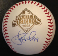 SOLD 4824 Greg Dobbs Autographed 2008 World Series Baseball