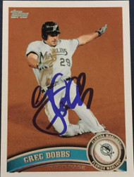 Greg Dobbs Autographed 2011 Topps Update #US12