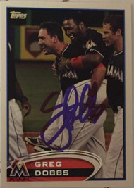 Greg Dobbs Autographed 2012 Topps Update #US207