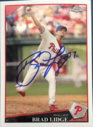 Brad Lidge Autographed 2009 Topps Chrome #5