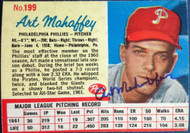 SOLD 4906 Art Mahaffey Autographed 1962 Post Cereal #199