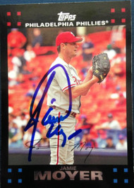 Jamie Moyer Autographed 2007 Topps #562