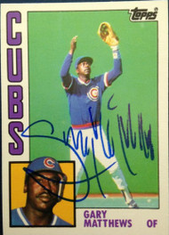 Gary Matthews Autographed 1984 Topps Traded #77T