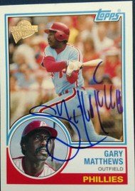 Gary Matthews Autographed 2004 Topps All-Time Fan Favorites #55