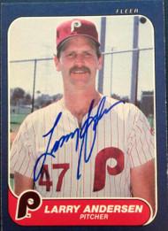 Larry Andersen Autographed 1986 Fleer #434