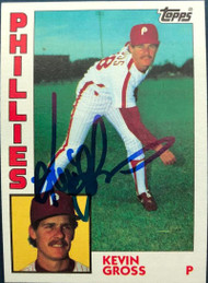 Kevin Gross Autographed 1984 Topps #332