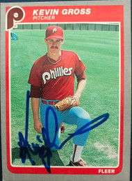 Kevin Gross Autographed 1985 Fleer #252