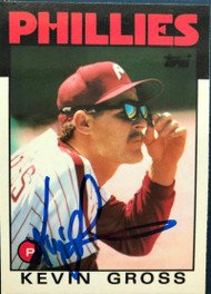 Kevin Gross Autographed 1986 Topps Tiffany #764