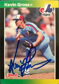 Kevin Gross Autographed 1989 Donruss Traded #3