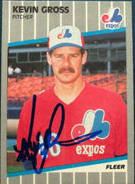 Kevin Gross Autographed 1989 Fleer Update #U-96
