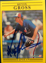 Kevin Gross Autographed 1991 Fleer #235
