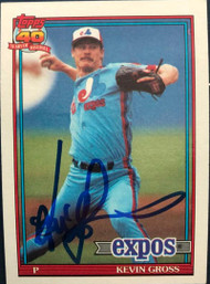 Kevin Gross Autographed 1991 Topps #674