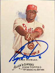 Ryan Howard Autographed 2008 Topps Allen & Ginter #300