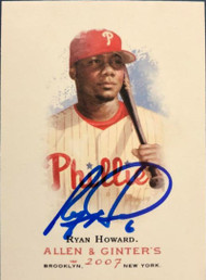 SOLD 5088 Ryan Howard Autographed 2007 Topps Allen & Ginter #1