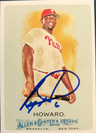 Ryan Howard Autographed 2010 Topps Allen & Ginter #7