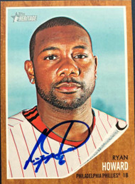 Ryan Howard Autographed 2011 Topps Heritage #220