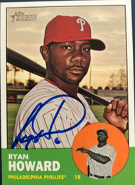 Ryan Howard Autographed 2012 Topps Heritage #161