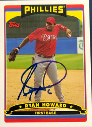 Ryan Howard Autographed 2009 Topps Phillies Fan Appreciation Day #16