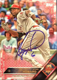 Ryan Howard Autographed 2016 Topps Pink #15 06/50