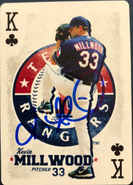 Kevin Millwood Autographed 2007 Academy Sports & Outdoors Playing Cards