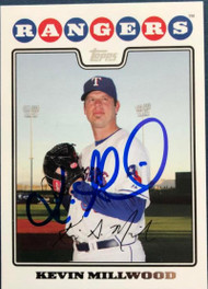 Kevin Millwood Autographed 2008 Topps #566