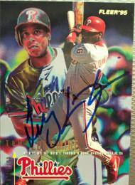 SOLD 5172 Tony Longmire Autographed 1995 Fleer #400
