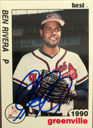 Ben Rivera Autographed 1990 Greenville Braves Best #6