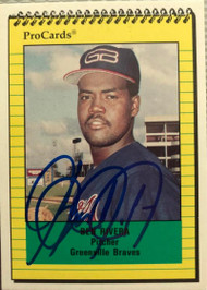 Ben Rivera Autographed 1991 Greenville Braves Pro Cards #2997