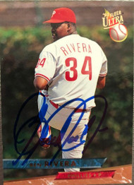 Ben Rivera Autographed 1993 Fleer Ultra #93
