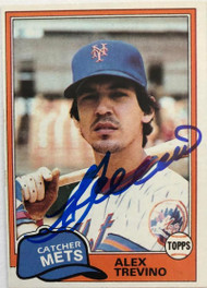 Alex Trevino Autographed 1981 Topps #23