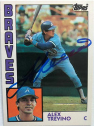 Alex Trevino Autographed 1984 Topps Traded #120T