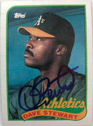 Dave Stewart Autographed 1989 Topps #145