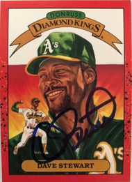 Dave Stewart Autographed 1990 Donruss #6 Diamond Kings